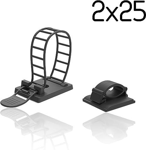 Innogadgets 50er Set Kabelclips Kabelklemmen Set Für Amazon De Elektronik