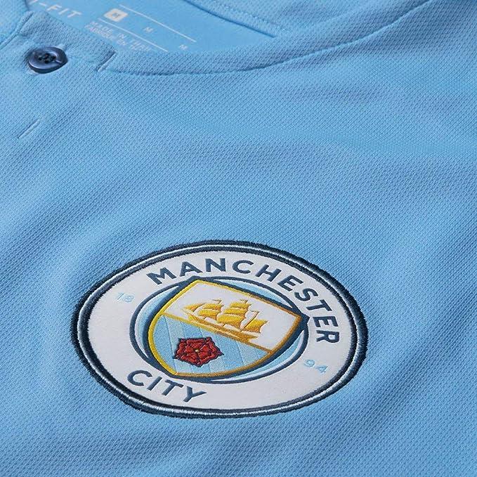 abdc6fd5b7c Amazon.com   Nike 2018-2019 Man City Home Football Soccer T-Shirt Jersey    Sports   Outdoors