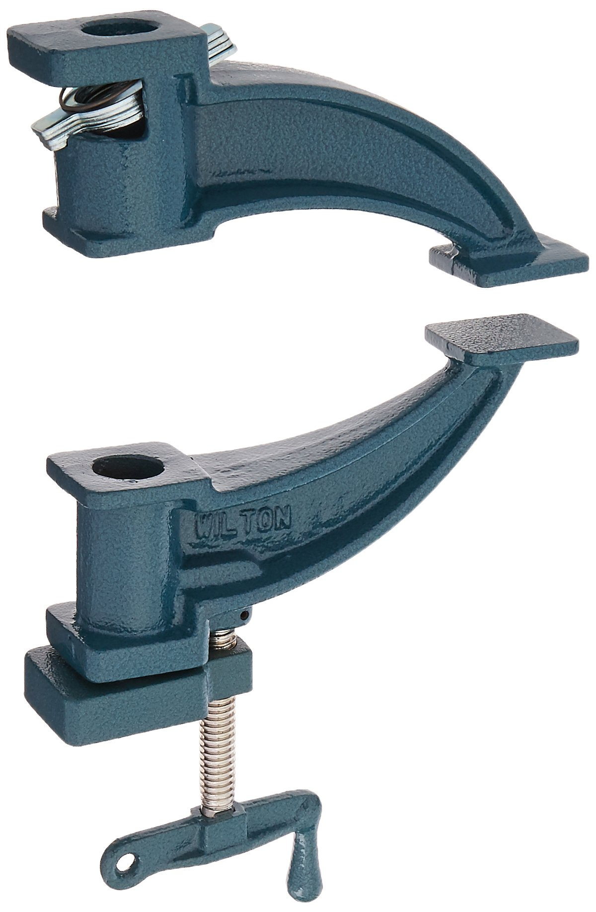 Wilton 14870 530, Steel Pipe Clamp Fixture, Deep-Throat, 3/4-Inch Threaded Pipe by Wilton
