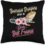 Modern Tees Bearded Dragon Tshirts Gifts Tshirt Bearded Dragons Throw Pillow, 16x16, Multicolor