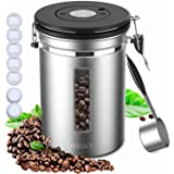 iwoxs coffee canister Stainless Steel Large Capacity Coffee Container 1.8L/60floz or 22oz Coffee beans,Coffee canister kitche