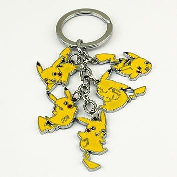 4,5 pulgadas Pikachu de Pokemon figura llavero de metal ...