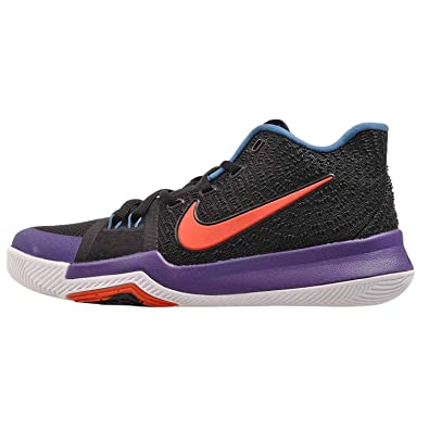 info for d21cc b129a Nike Kid's Kyrie 3 GS, Black / Team Orange - Concord, Youth Size 5.5