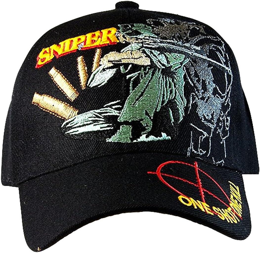 Embroidered U.S. Army Veteran Marine Navy Air Force Military U.S. Warriors Baseball Cap Hat (SNIPER) … B00I80WM28