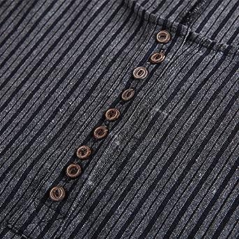 37084f28e97 Fancy beautystyle Women s Asymmetrical Linen Tunic Stripe Dress with  Pockets at Amazon Women s Clothing store