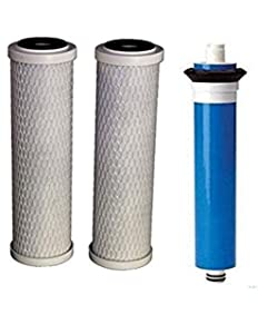 CFS COMPLETE FILTRATION SERVICES EST.2006 Compatible for GE FX12P FX12M Compatible Filter Combo Set for GXRM10RBL RO System