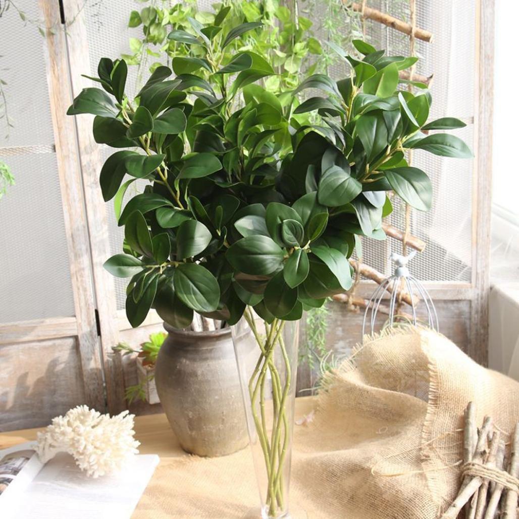 yjydada人工植物フェイクLeaves Foliage Grass Bushウェディングパーティーホームガーデン装飾 B07BK3WXDH