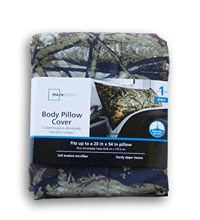 Amazon Mainstays Microfiber Body Pillow Cover Camouflage Simple Mainstays Microfiber Body Pillow Cover