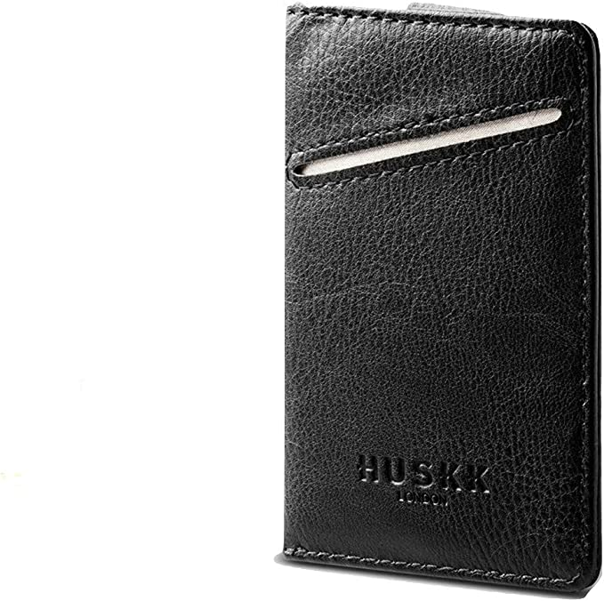 HUSKK Men Wallet - RFID Minimalist Slim Front Pocket Card Travel Holder Clip