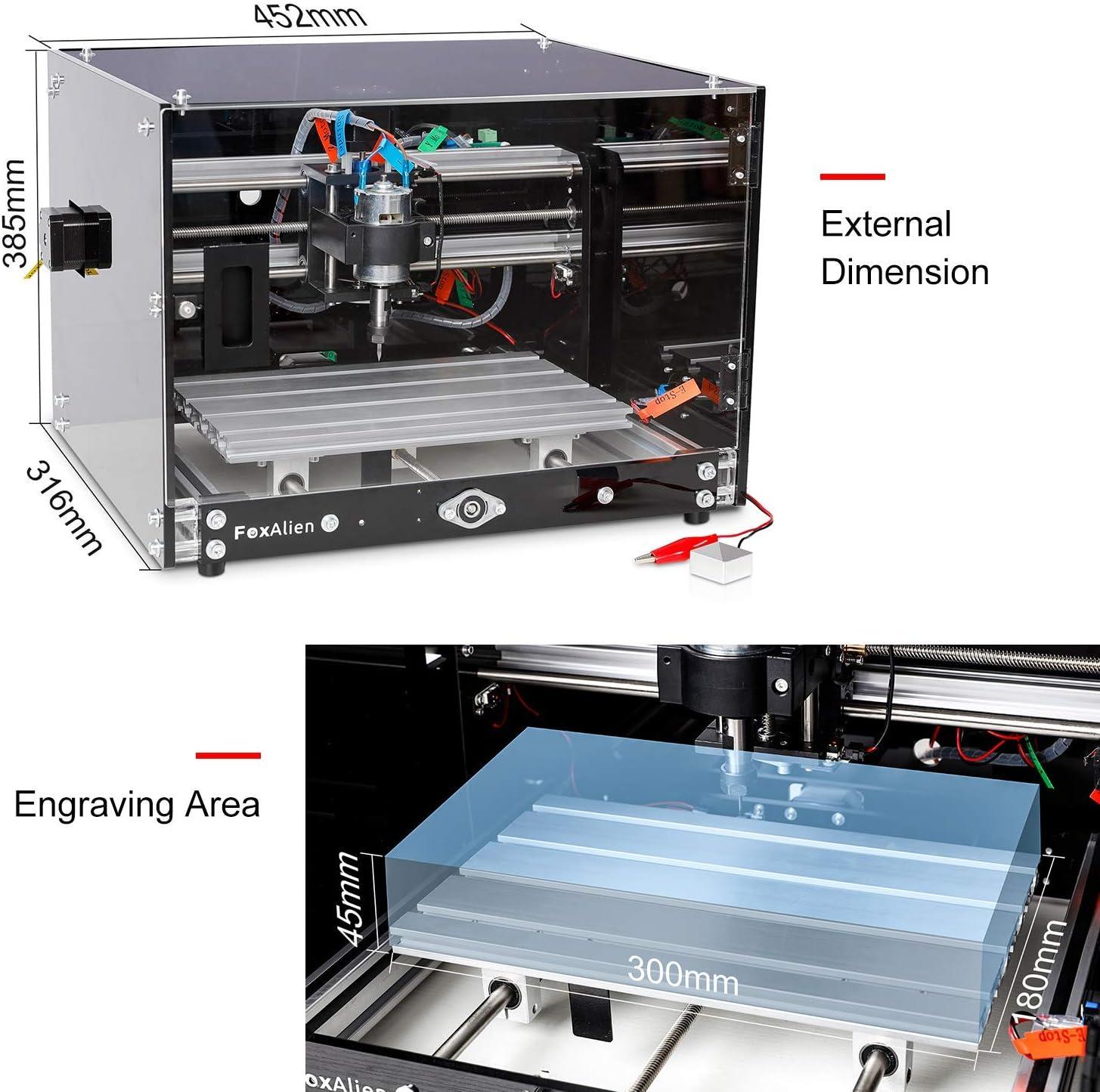 FoxAlien 3018-SE CNC Router Engraving Machine Bench Vise 10pcs Triangular Router Bits V-Bit