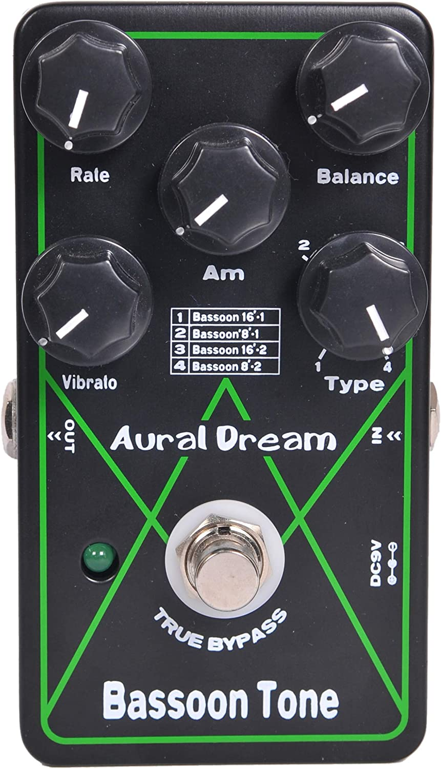 Aural Dream Bassoon Tone Synthesizer Guitar Effects Pedal based on organ includes Bassoon 16'and Bassoon 8'with Vibrato and Swell module,True bypass.
