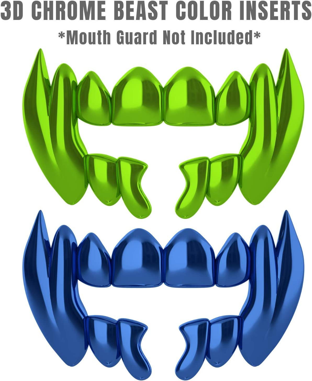 Loudmouth 3D Chrome Beast Blister Pack for Football Mouth Guard