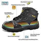 SAFETOE Men's Steel Toe Work Boots Water-Resistant