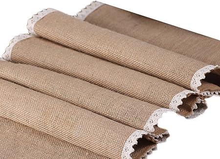 ☆ Material: Yute ambiental; Tamaño: S: 30cm*180cm; M: 30cm*240cm; L: 30cm*275cm..,☆ La corredor mesa