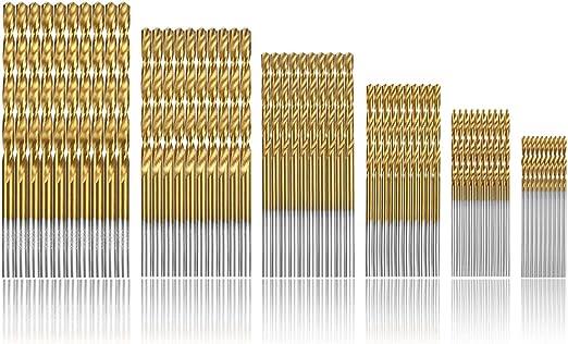 Pack de 13 Hss Twist Drill Bit Set métrique M35 Cobalt Acier Haute Vitesse Acier Titane