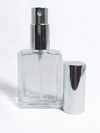 abd5672594ae Amazon.com : Flat Glass Spray Bottle. Fine Mist Perfume Cologne ...