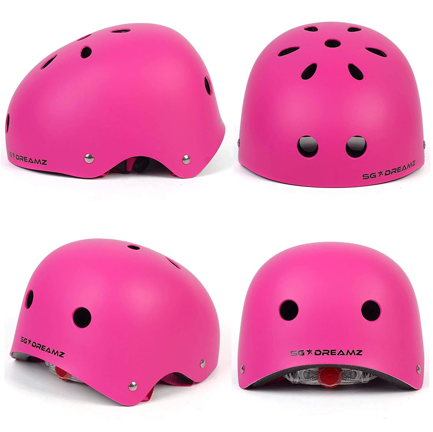Multi-Sport Helmet for Skateboard Scooter Skating Bicycle Bike Cycling Youth Helmet Certified for Safety Adjustable for Youth from Ages 8 to 18