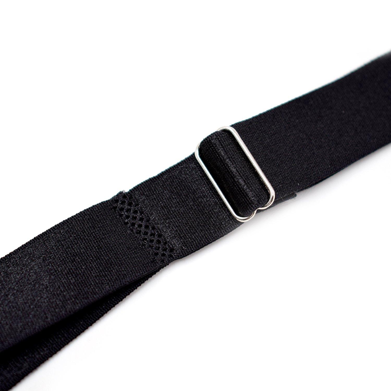 Mens Shirt Stays Garter Adjustable Elastic Straps Sock Suspenders Black Upbear