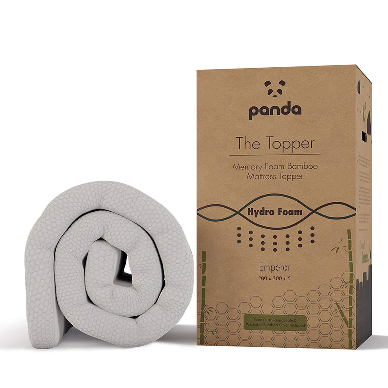 Panda The Topper (EU Emperor) - Gel de Espuma durchzogene Espuma de Retroceso (Hydro) bambú Colchón: Amazon.es: Bebé