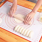 LIMNUO Silicone Pastry Baking Mat Non Stick Large Extra Thick with Measurements Baking Mat,Counter Mat, Dough Rolling…