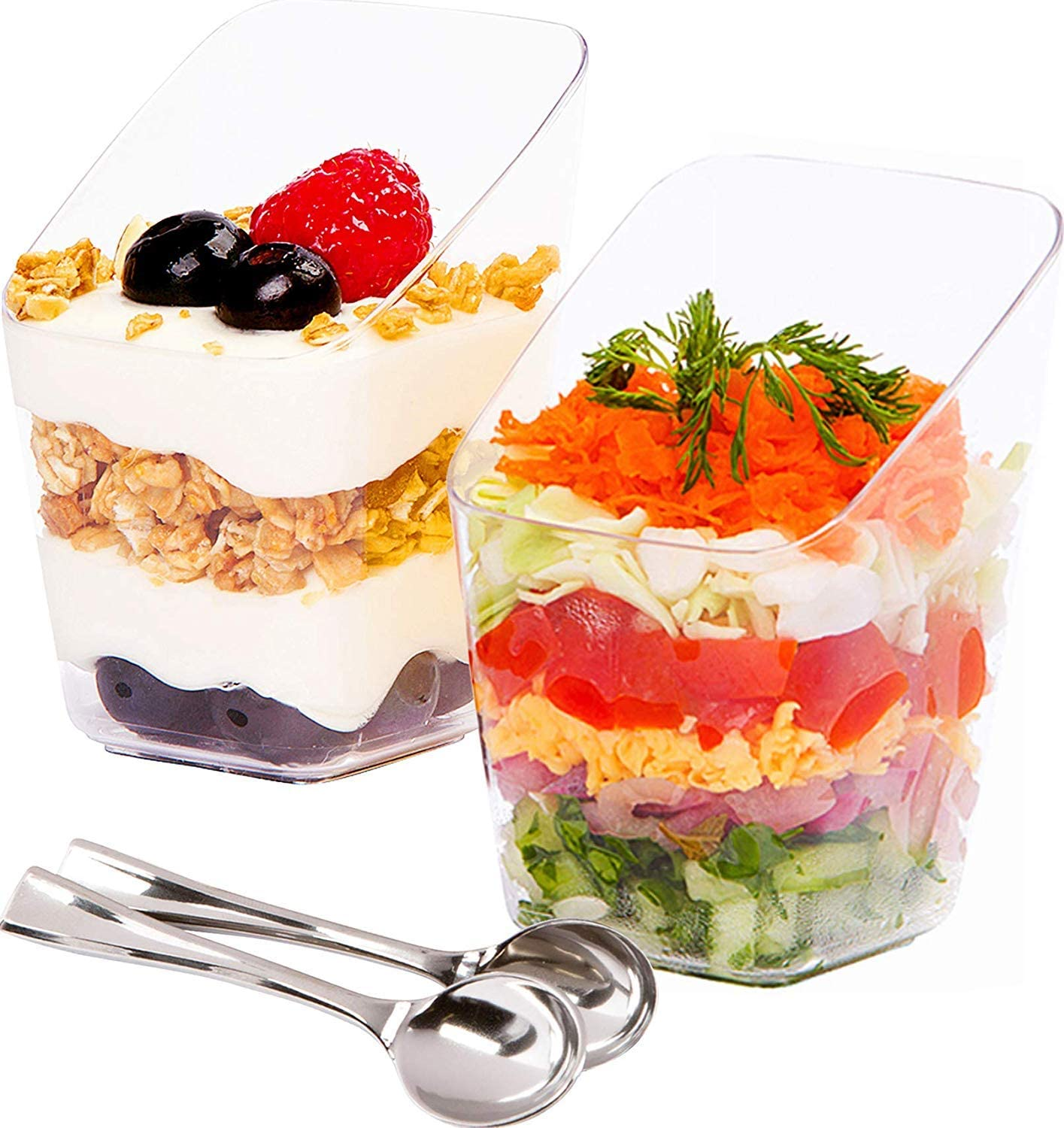 3 oz PLASTIC DESSERT CLEAR Round CUPS Disposable TABLEWARE Wedding Party SALE