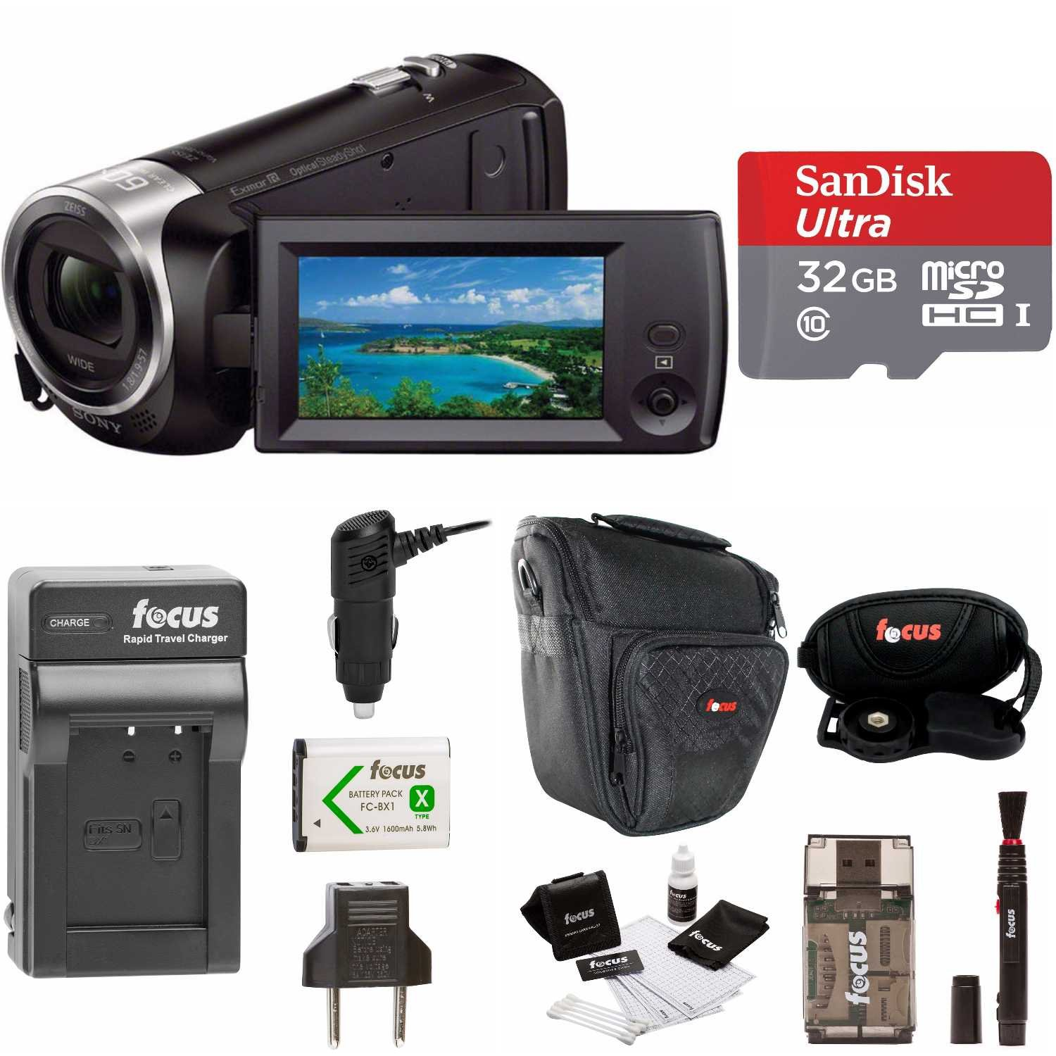 Sony HDR-CX405/B Handycam HD Camcorder w/ 32GB Deluxe Accessory Kit by Sony
