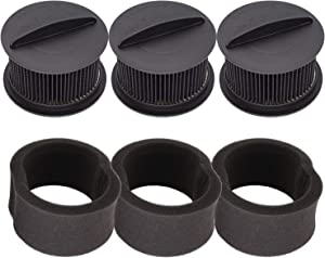 Wolfish 3 Pack Replacement Filter for Bissell Power Force & Helix Turbo Inner, Compatible with Bissell 32R9 Outer Filter Set,Replaces Part 203-7913, 2037913