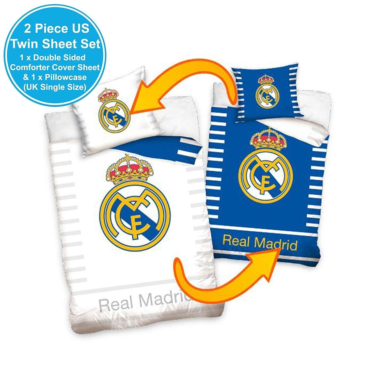 Real Madrid RM16-1001 Juego de Cama, 100% Algodón, 27 x 39 x ...
