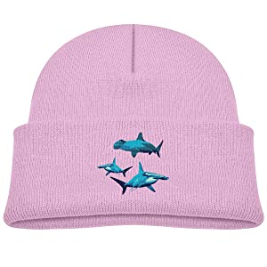 Blue Hammerhead Shark Soft Beanie Caps 0-3 Old Baby Boy Toddler Ski Hats
