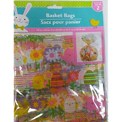 "Easter Basket Bags 22"" x 25"" x 4"" - Styles Vary 2 Count Package: Toys & Games"