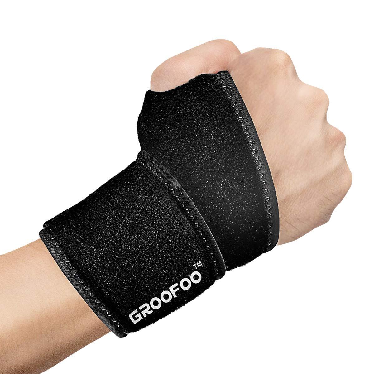 [Handgelenkbandage] GROOFOO Handgelenkstütze verstellbare Handbandage Handgelenkschoner zur wirkungsvollen Unterstützung und Entlastung Wrist Wraps für Alltag Fitness und Kraftsport beide Hände gültig