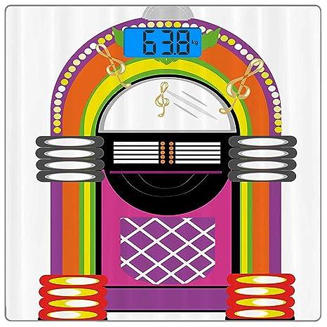 Escala digital de peso corporal de precisión Square Tocadiscos ...