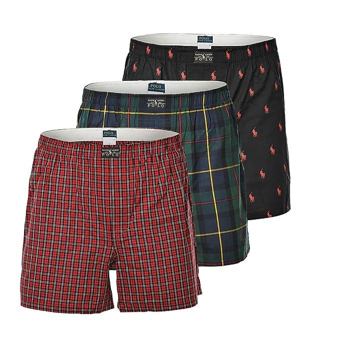 Polo Ralph Lauren Mens Shorts 3 Pack, Webboxershorts - Negro/Rojo ...
