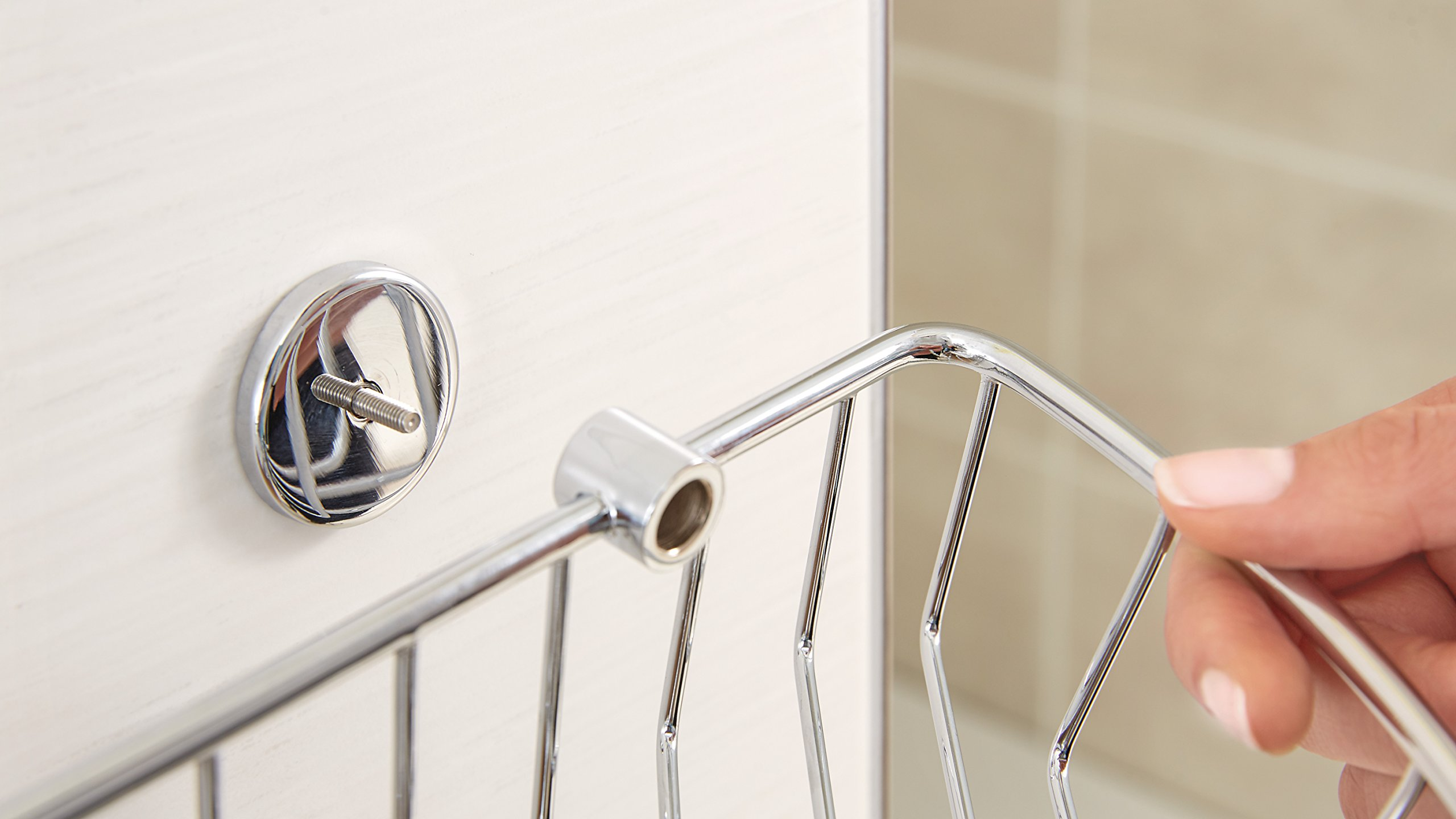 Tesa draad Shower Caddy Brass Chrome-Plated with Adhesive Solution 65 x 275 x 135 mm by tesa UK (Image #5)