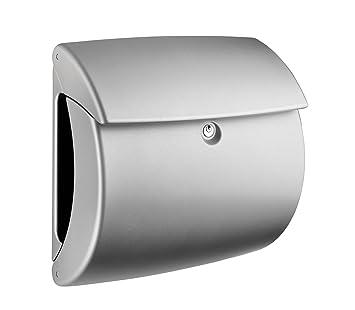 Top Burgwächter Kunststoff-Briefkasten Pearl 886 silber: Amazon.de  RB19