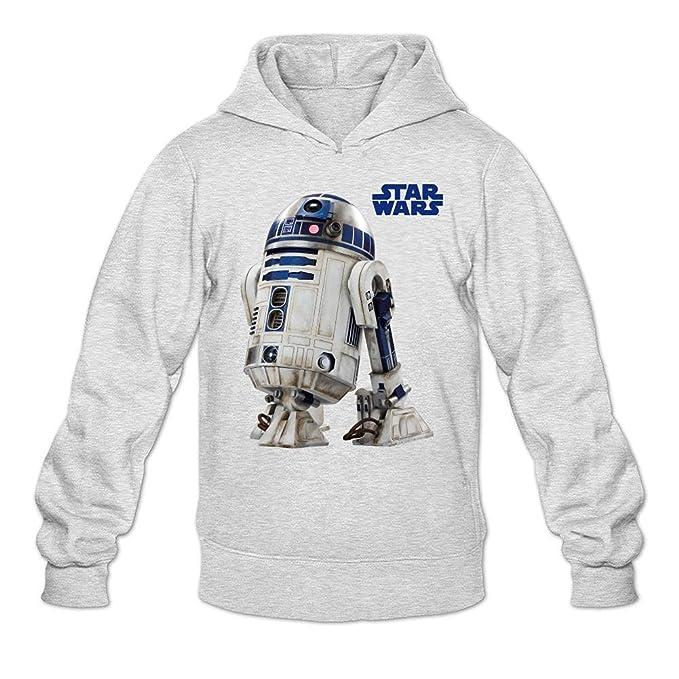 Yatyler personalizada R2-D2 Render sudadera con capucha para jóvenes 100% algodón orgánico color gris claro M: Amazon.es: Ropa y accesorios