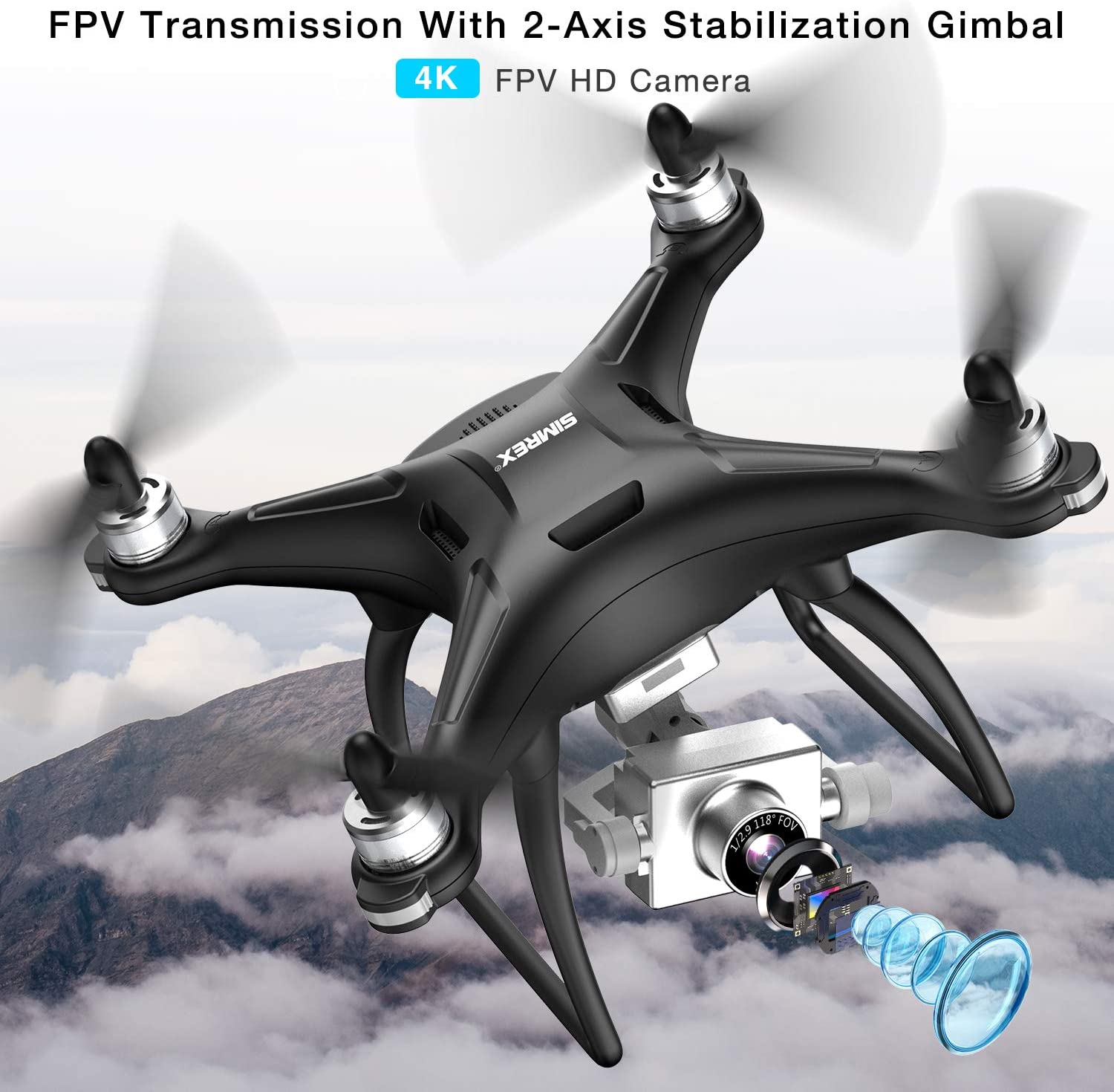 Simrex x11 fpv drone is at #4 for best drones under 150 dollars