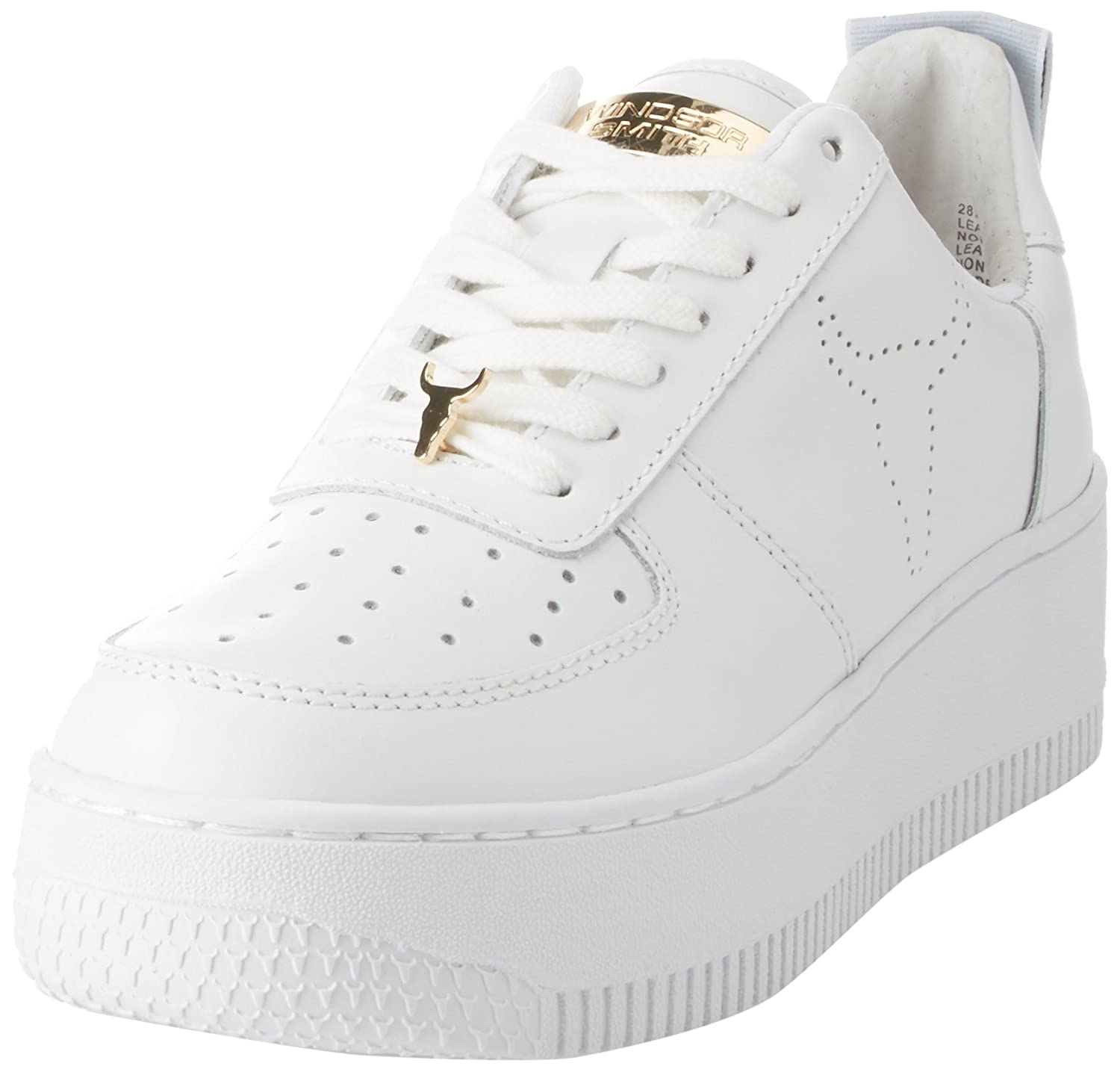 Windsor Smith Racerr, Zapatillas para Mujer 36 EU|Bianco (Leather White)