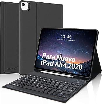 Teclado Funda para iPad Air 4 10.9 Pulgadas(2020),SENGBIRCH Español Teclado Bluetooth con Inteligente Funda para iPad Air 4/iPad Pro 11 ...