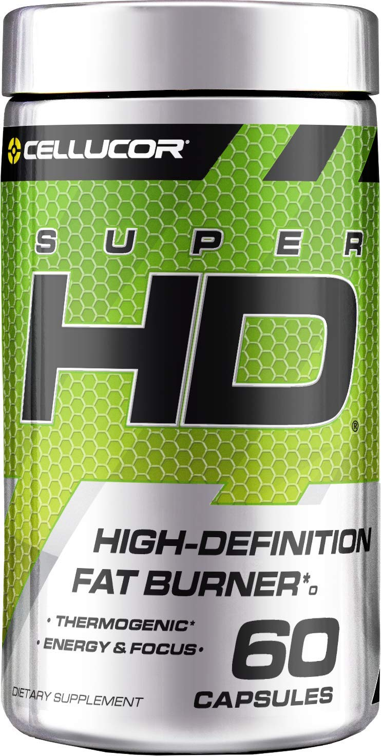 Cellucor SuperHD Thermogenic Fat Burner & Energy Booster for Men & Women, Antioxidant & Weight Loss Supplement with Nootropic Focus, 60 Capsules by Cellucor
