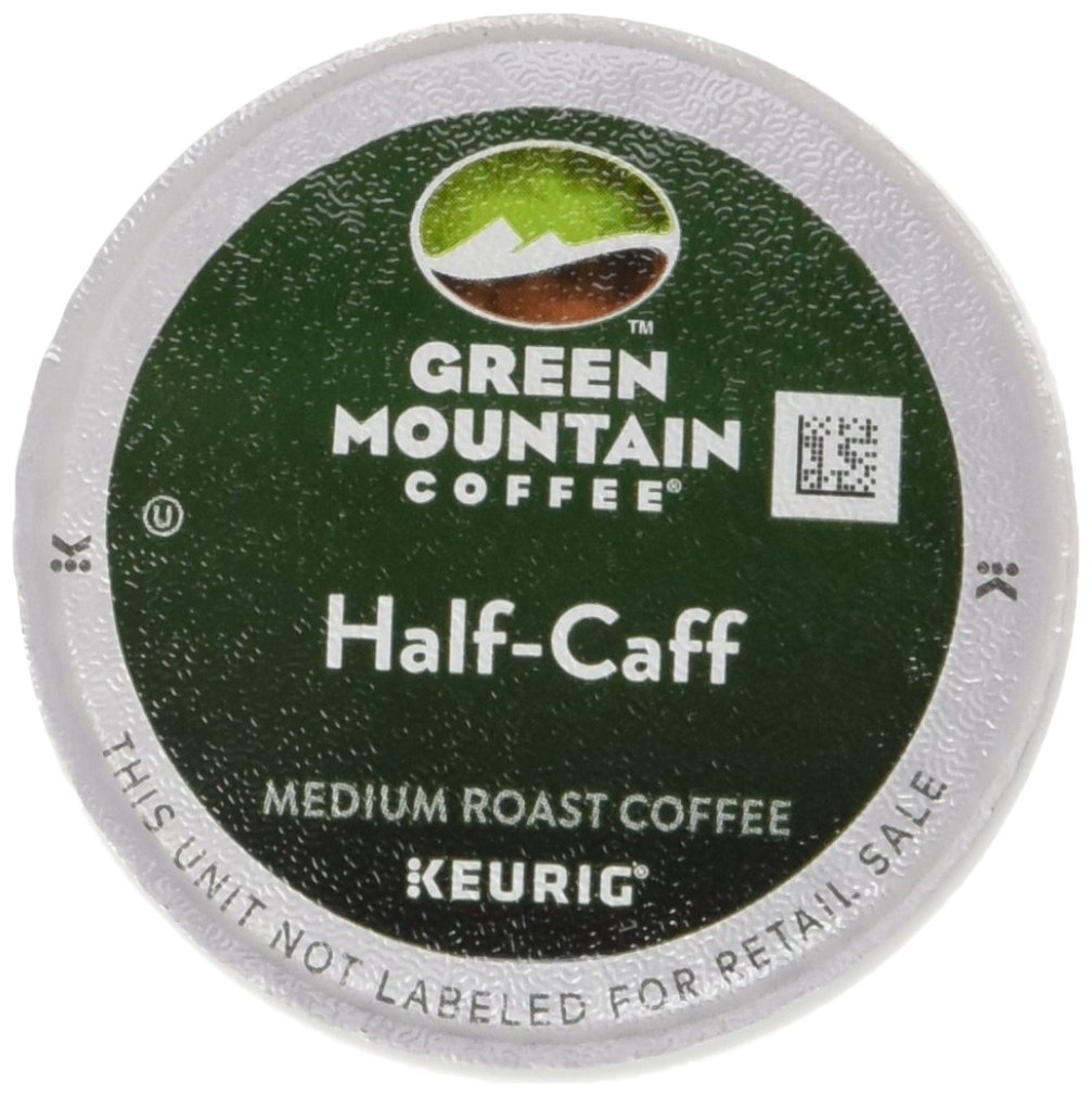 Green Mountain Coffee Medium Roast K-Cup for Keurig Brewers, Half-Caff Coffee (Pack of 96)