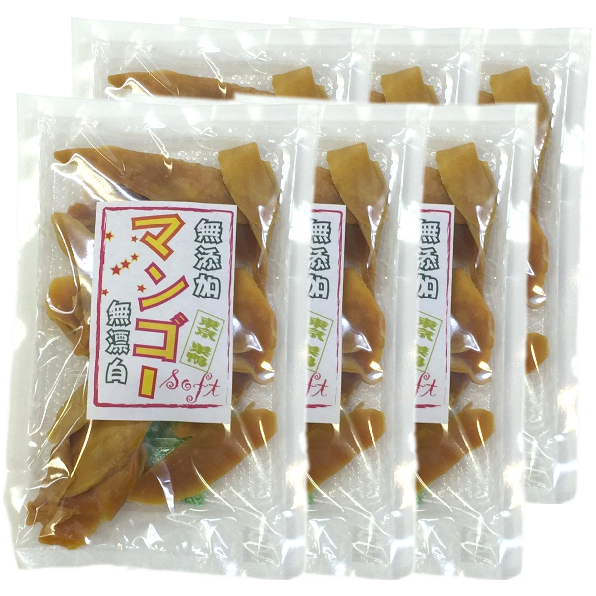 Japanese Tea Shop Yamaneen Dry Mango Without Additives Bleach-Lessness 160G x 6packs