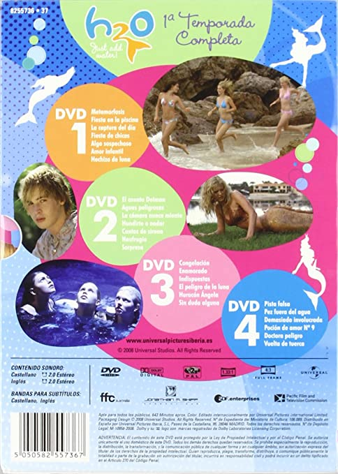 H2O (1ª temporada) [DVD]: Amazon.es: Cariba Heine, Angus Mclaren ...