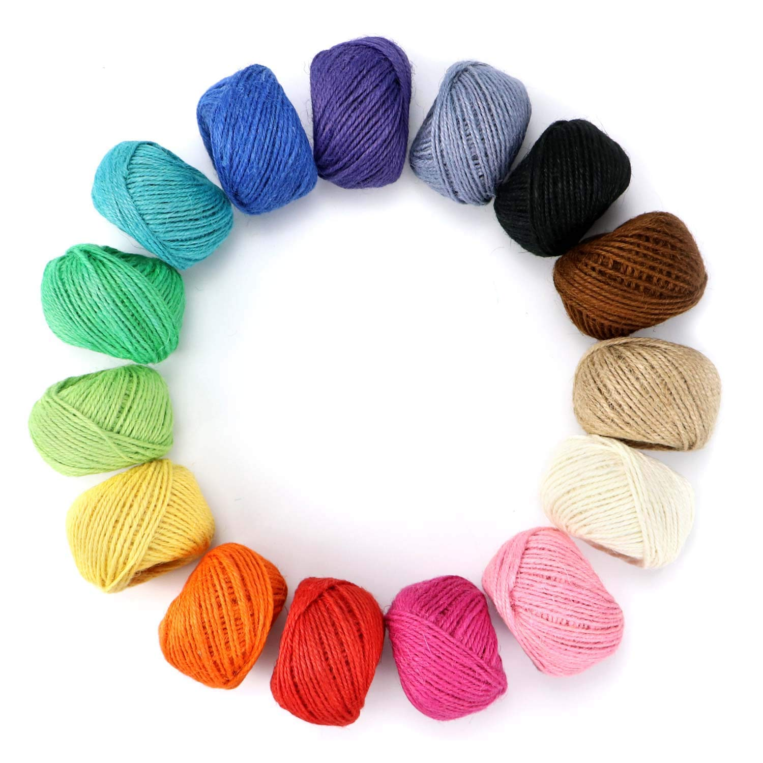 Cotton Bakers Twine HULISEN 15 Rolls Colourful Twine String for Artworks DIY Crafts Picture Display and Embellishments Gift Wrapping