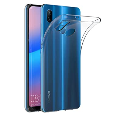 newest 8d537 9df8a AICEK Huawei P20 Lite Case, Transparent Silicone Cover for Huawei P20 Lite  Bumper Covers Clear Case (5.84 inch)