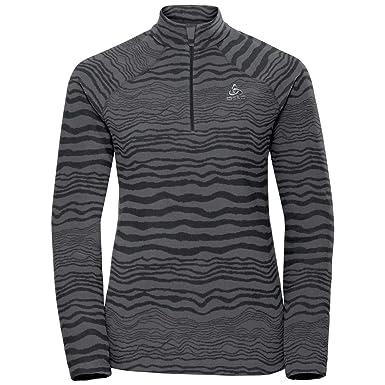 Odlo Damen Albula Zip Longsleeve Langarmshirt Sweatshirt