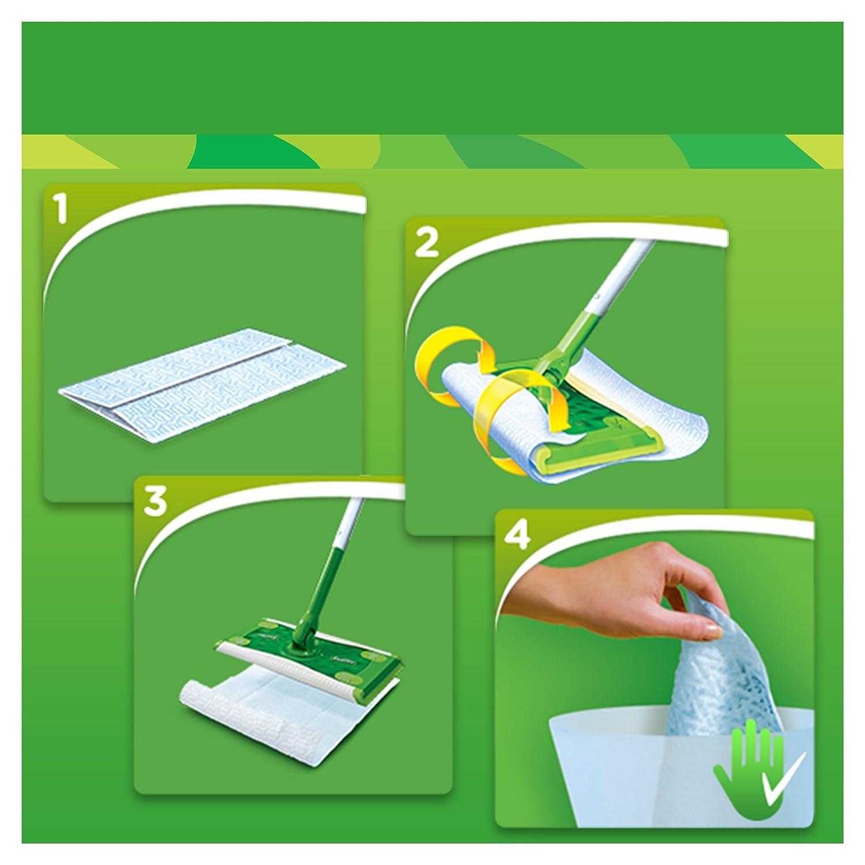 Swiffer XXL Mopa & Completo de Sistema de Limpieza Plus 8 Suelo paños de Polvo: Amazon.es: Hogar