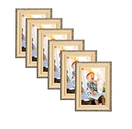 Amazon.com - Unique Plated Beaded Border Gold Picture Frames (6 pc ...