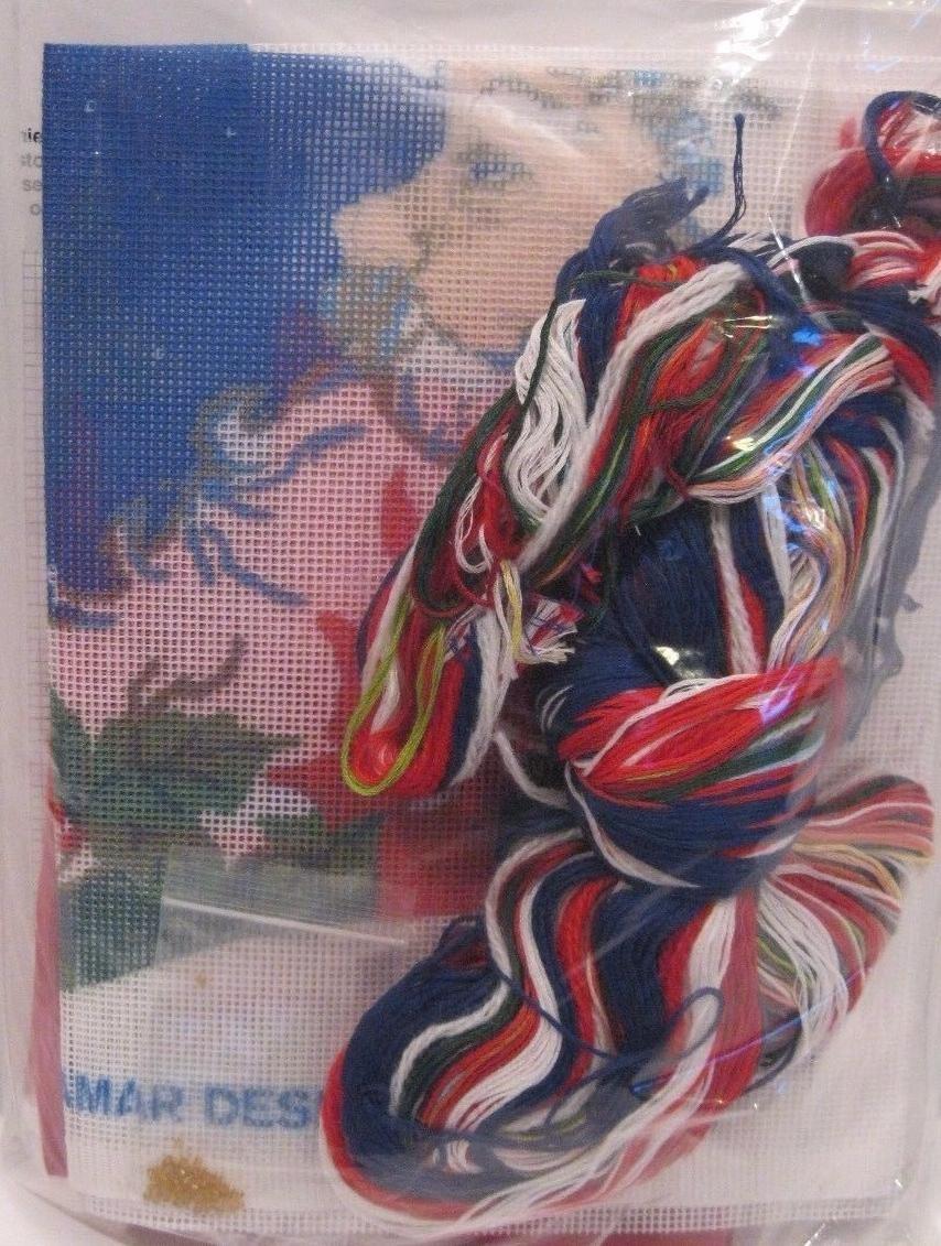 Tassel Santa Christmas Stocking Needlepoint Kit #30877