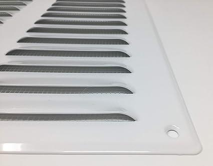 metalicas anti-insectos// mr2628 entrada-salida de aire 260x280mm blanca Rejilla de ventilaci/ón